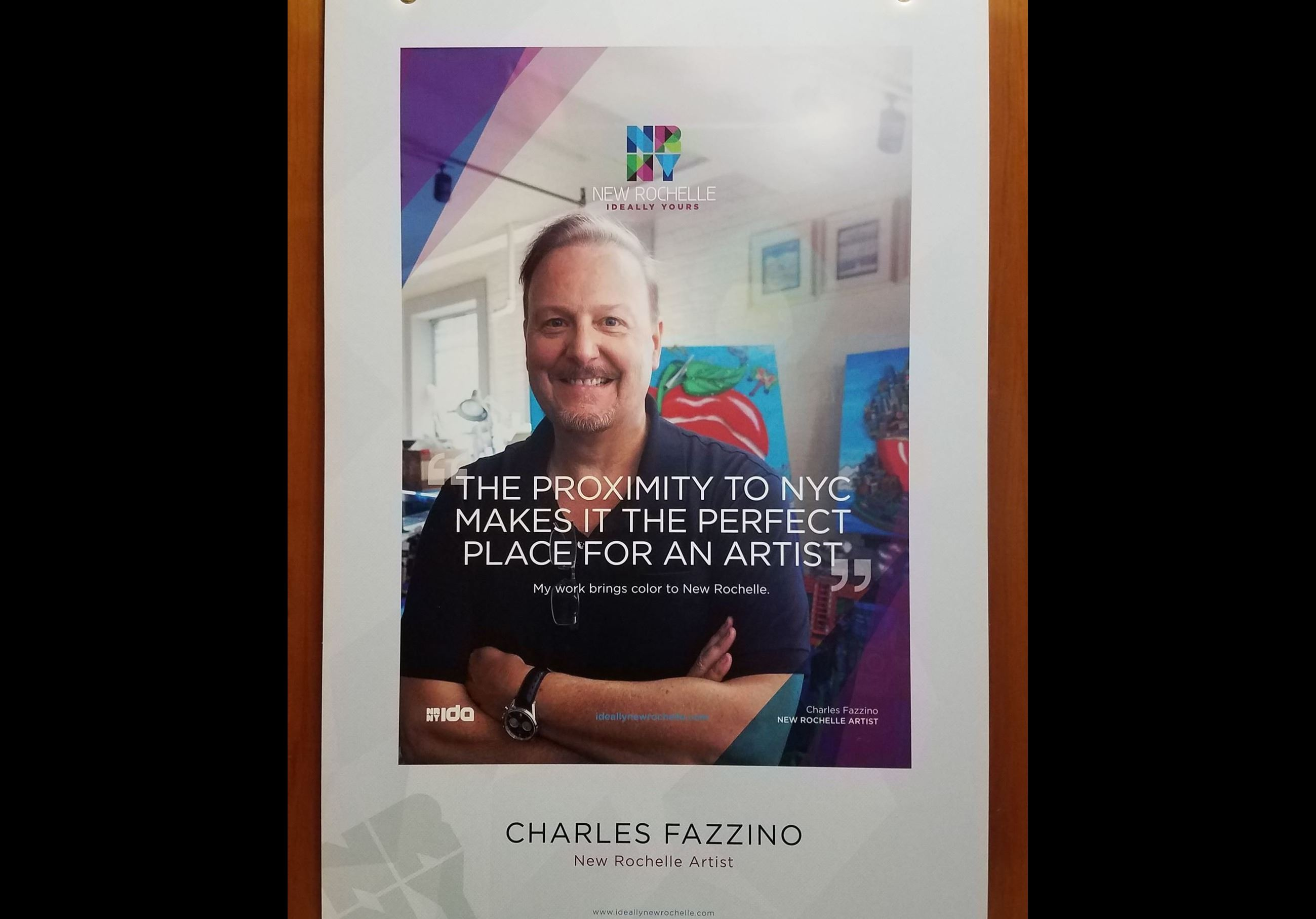 New Rochelle Artist Charles Fazzino Poster