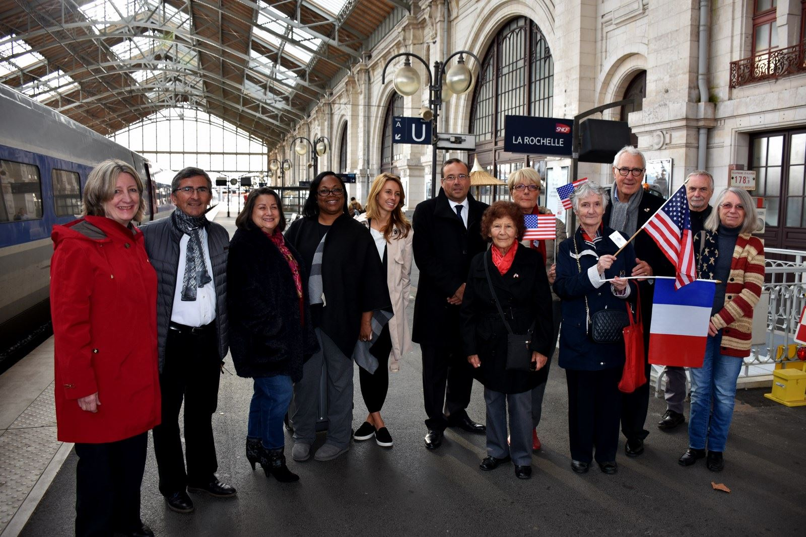 NR delegation arrives in LR greeted at train station 2017