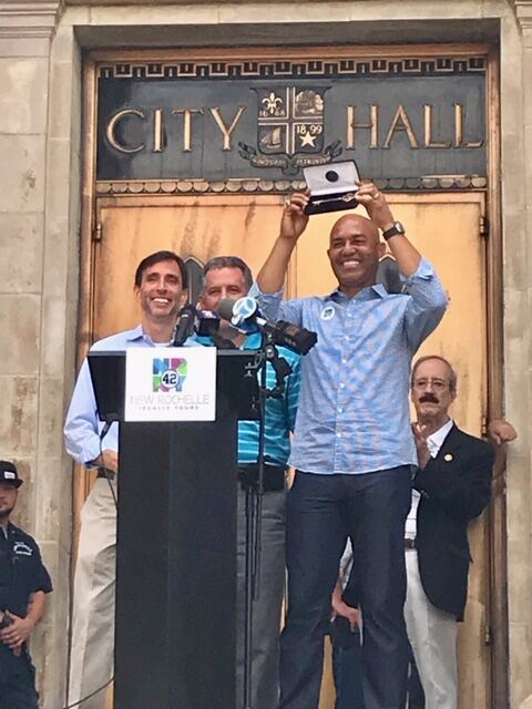 Mariano Rivera Key to the City ceremony