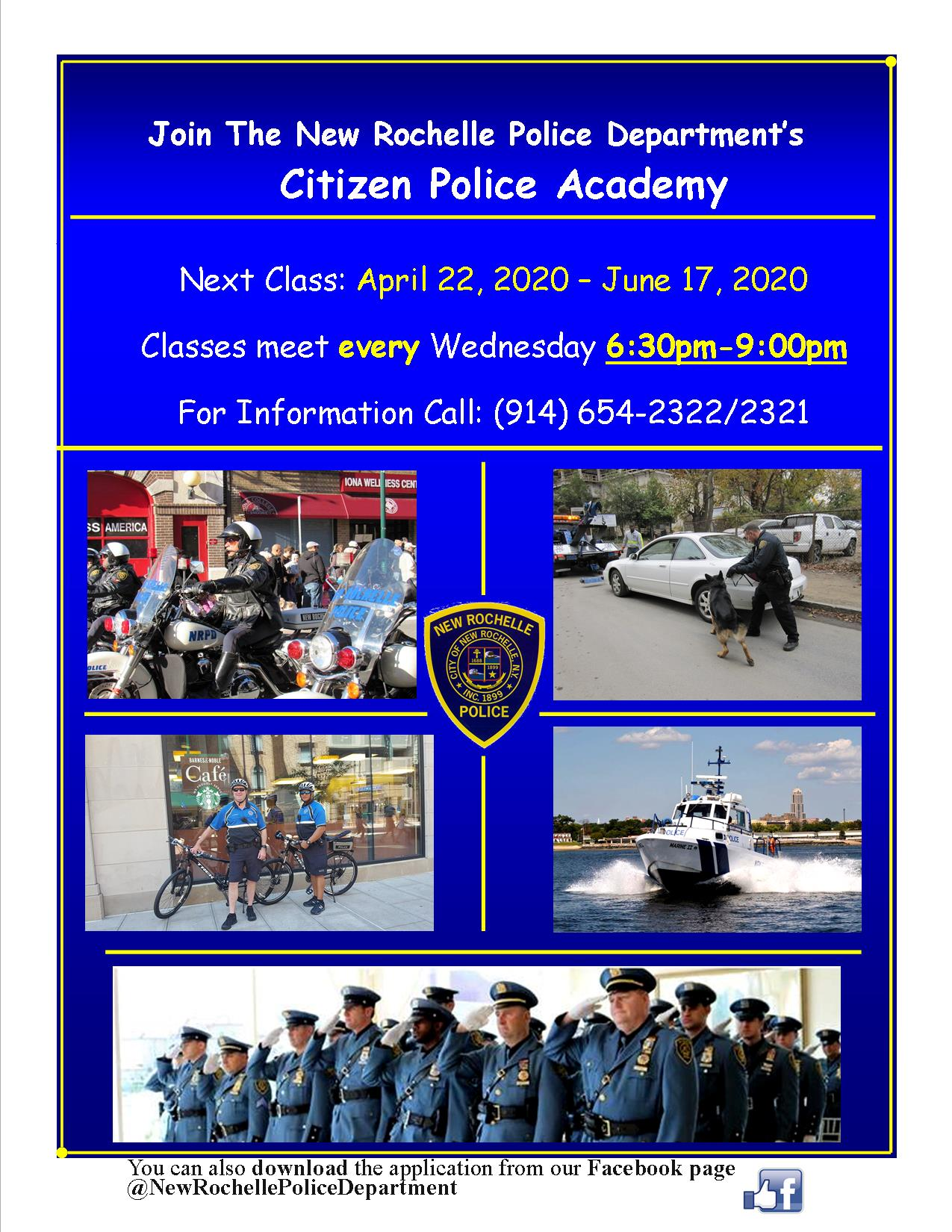 Citizen Police Academy 2020 Flyer