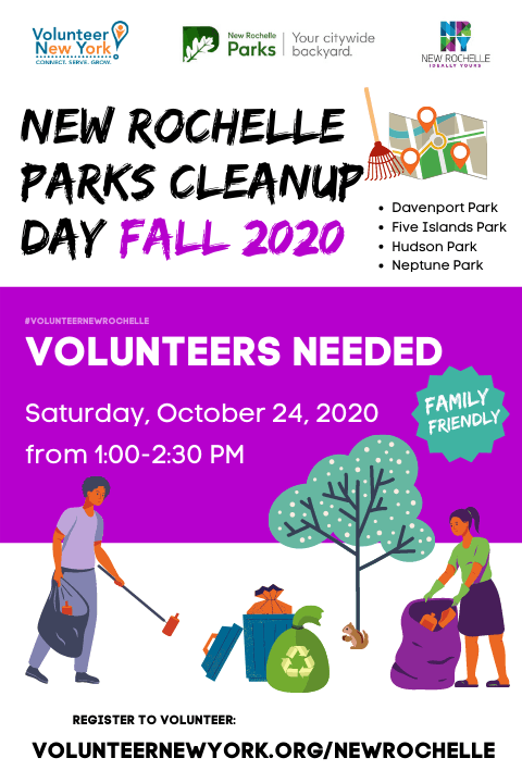 NEW Rochelle parks cleanup day fall 2020