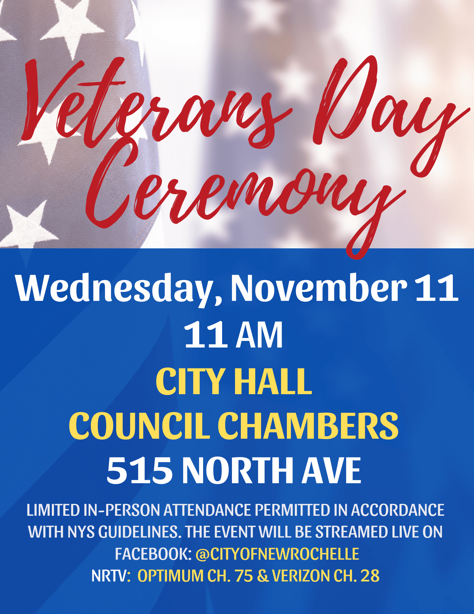 Veterans Ceremony - update