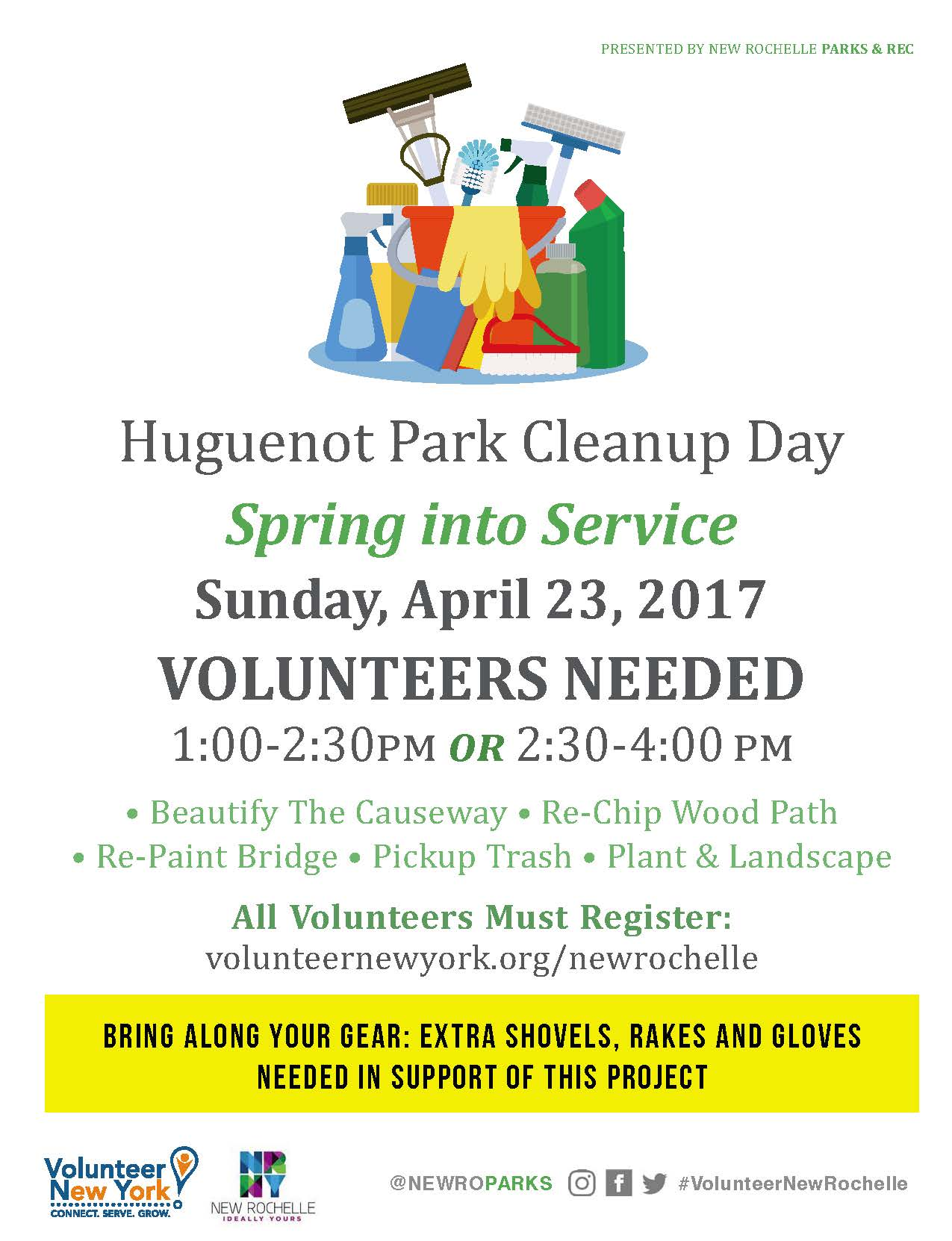 4-23-17 New Ro Park Cleanup Flyer