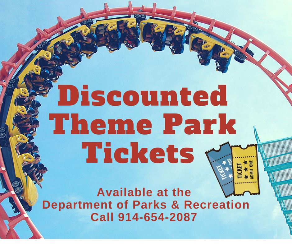 Discounted theme park tickets