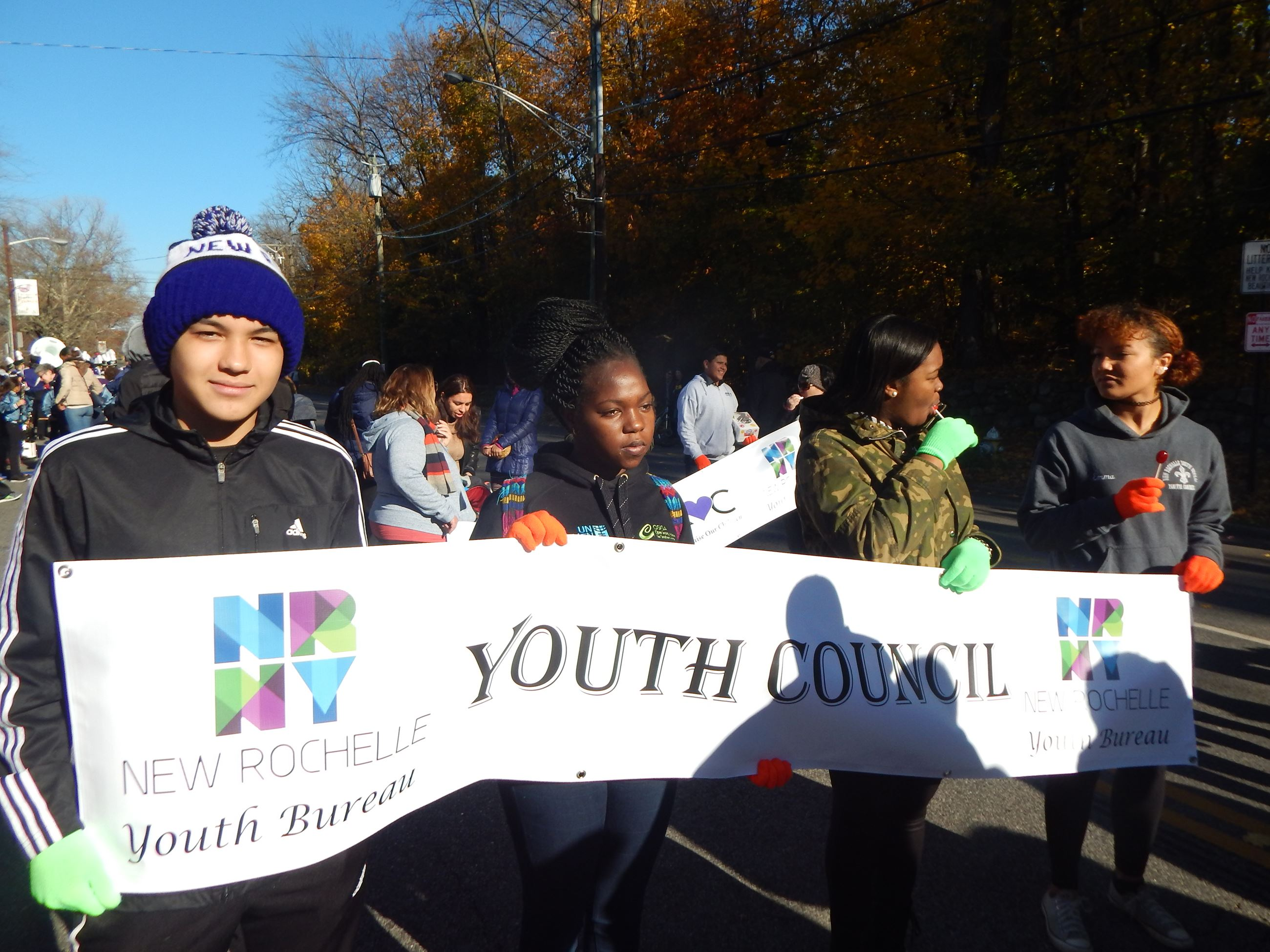 Our Youth Council at the Thanksgiving Parade