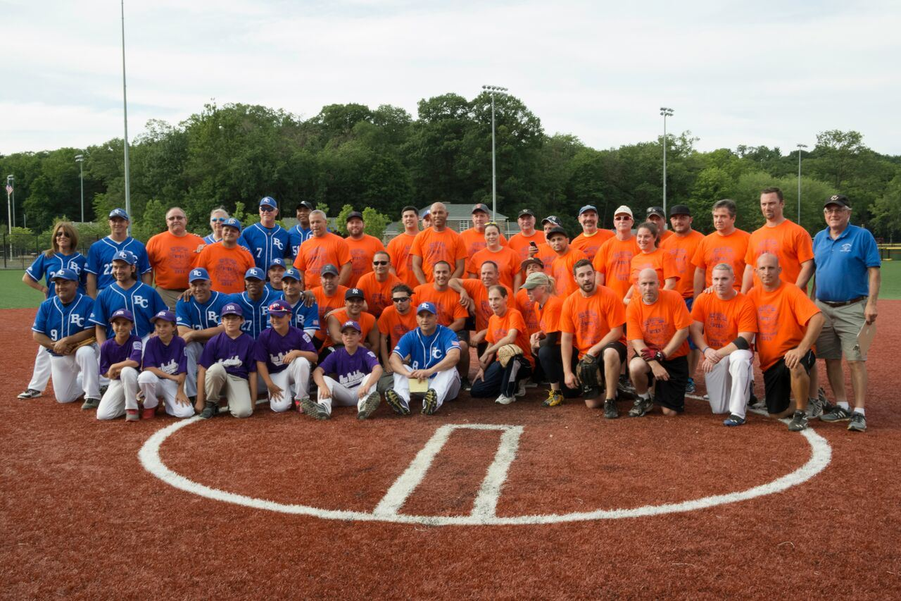 Both teams: WFAN's All- Stars vs. our local team players